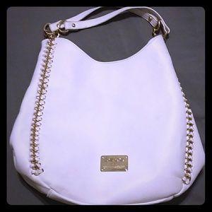 Handbags - Bebe white shoulder/hobo purse